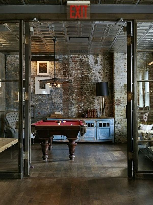 3 add an industrial touch with exposed bricks