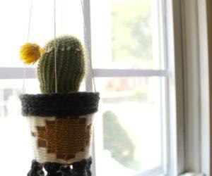 DIY Woven Hanging Planter