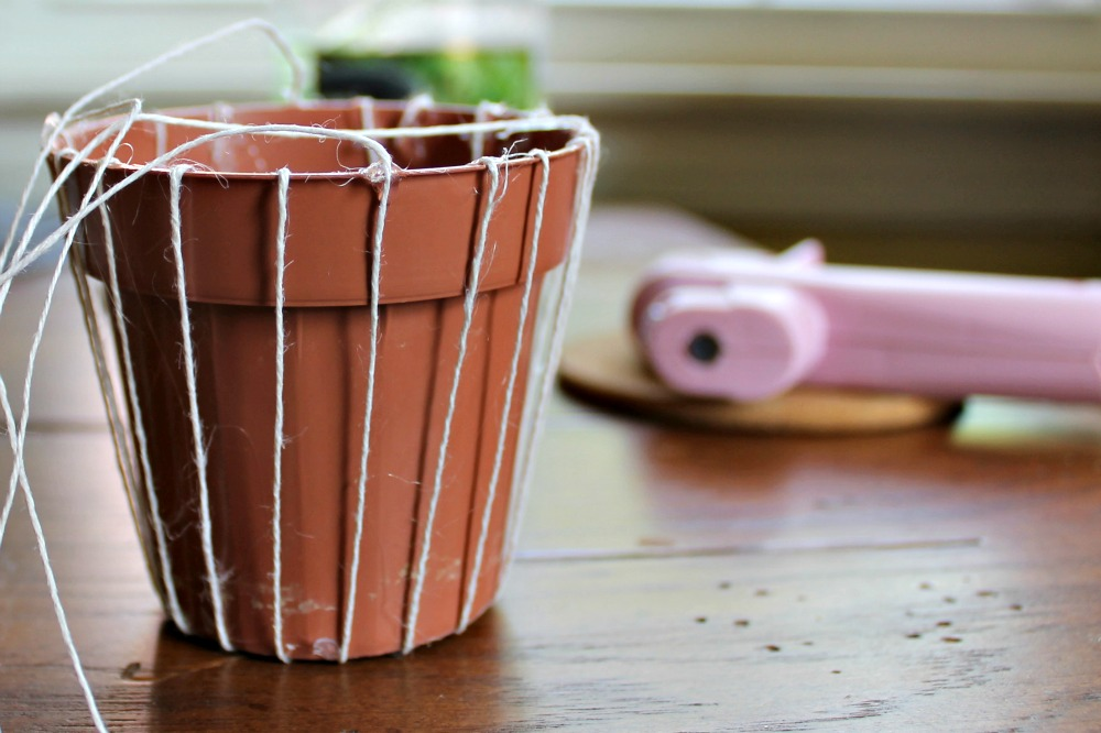 hanging woven planter tutorial