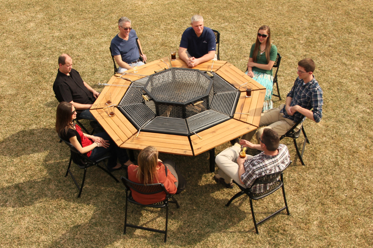Modern Outdoor Accessories For A Perfect Summer Experience - Patio table with built in grill