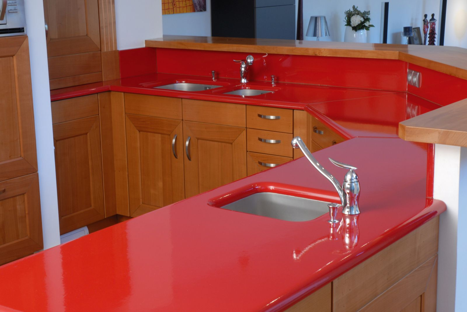 floor maple best size countertops large impressive color oak cabinets wood what for of designs countertop full kitchen with