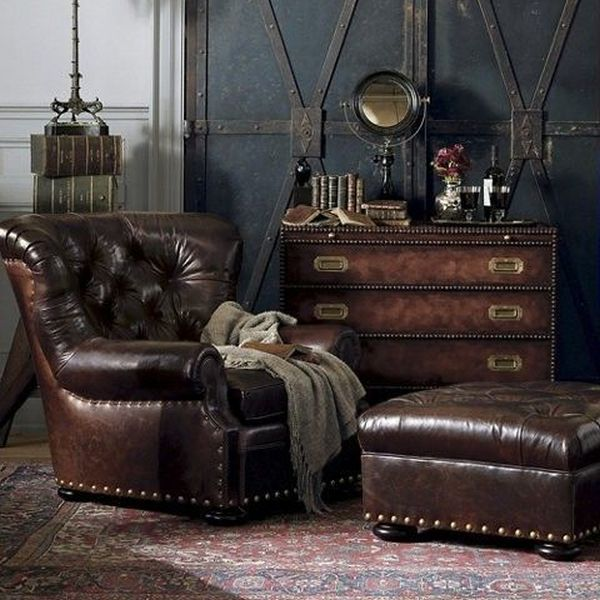 Steampunk Home Decorating Ideas Part - 20: 6. Expose Leather Items Or Furniture