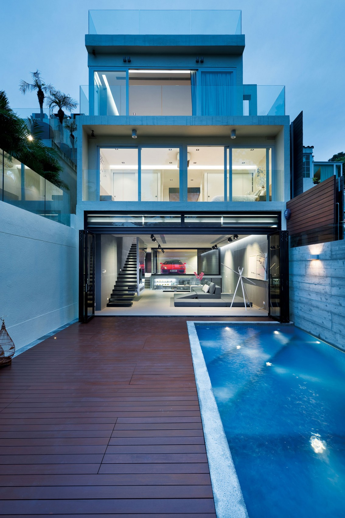 Unconventional Hong Kong House Makes The Garage Part Of The Living Space