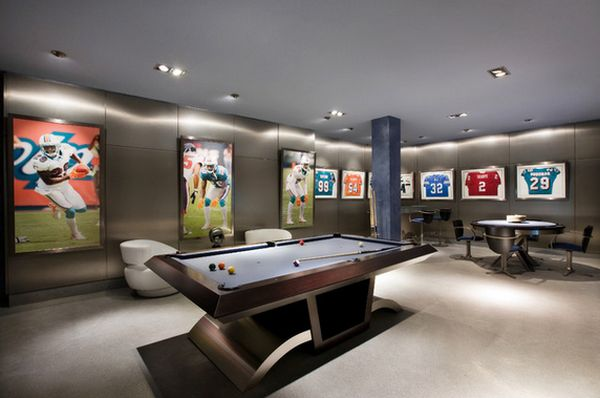 Game And Entertainment Rooms Featuring Witty Design Ideas - Modern games room