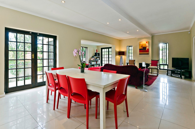 View in galleryBe Confident With Color   How To Integrate Red Chairs In The  . Red Dining Chairs And Table. Home Design Ideas