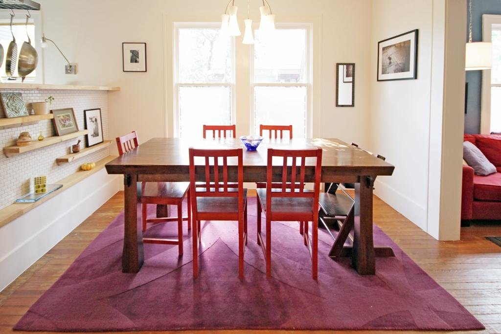 Be Confident With Color   How To Integrate Red Chairs In The Dining RoomBe Confident With Color   How To Integrate Red Chairs In The  . Red Dining Chairs And Table. Home Design Ideas