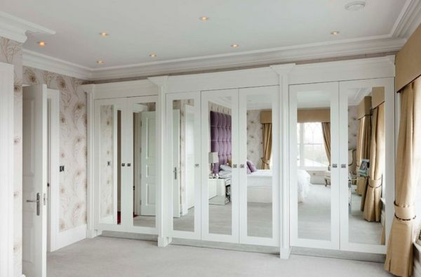 View in gallery White is a perfect choice for closets with mirrored doors : mirror doors - pezcame.com