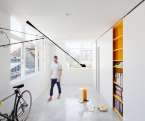 Micro Apartment Hides Its Playful Decor Behind Sliding Doors