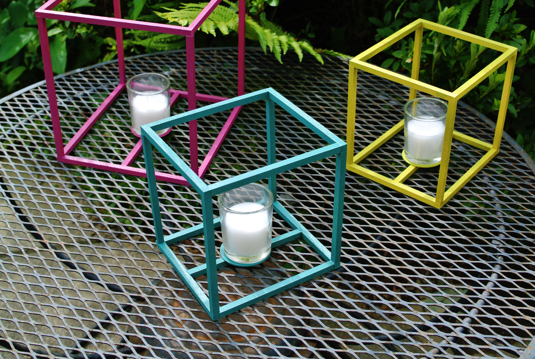 outdoor cube lanterns