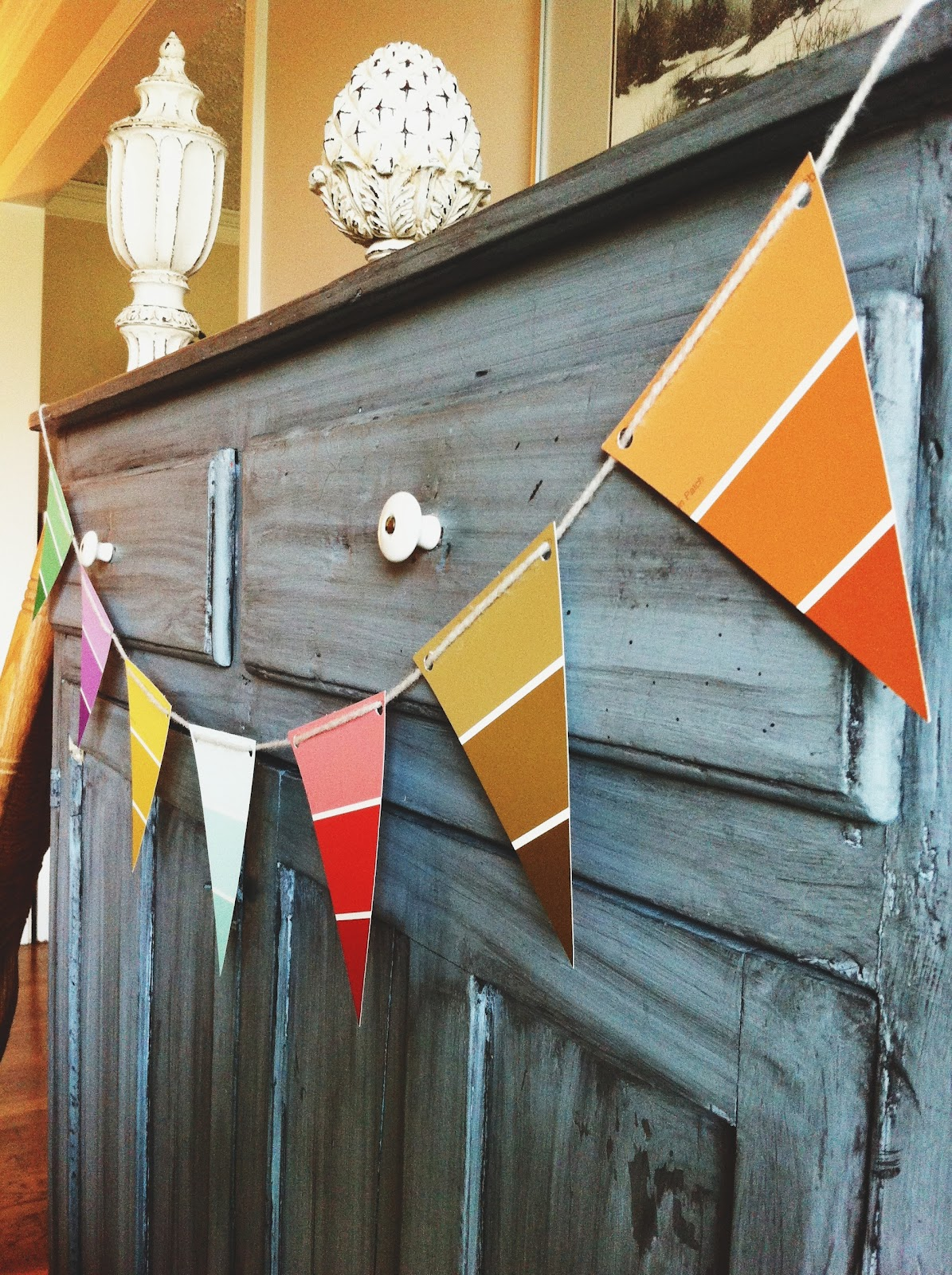 office warming party ideas. Paint Chip Garland. Office Warming Party Ideas E