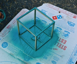 DIY Outdoor Cube Lanterns
