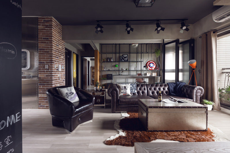 Perfect Balance Achieved For An Industrial Bachelor Pad
