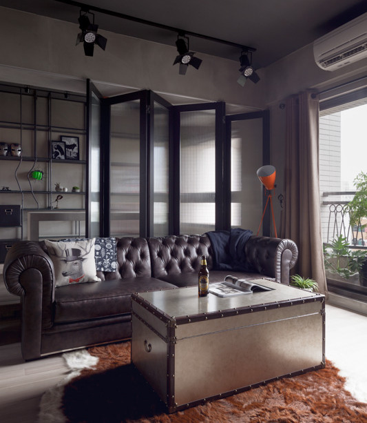 Interior Design Bachelor Pad: Perfect Balance Achieved For An Industrial Bachelor Pad