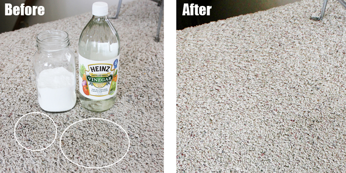 how to get baking soda out of carpet: Using White Vinegar
