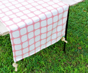 DIY Nautical Pillow Case Table Runner