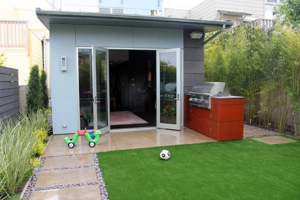 Seamless flow between house and backyard. - 20 Aesthetic And Family-Friendly Backyard Ideas