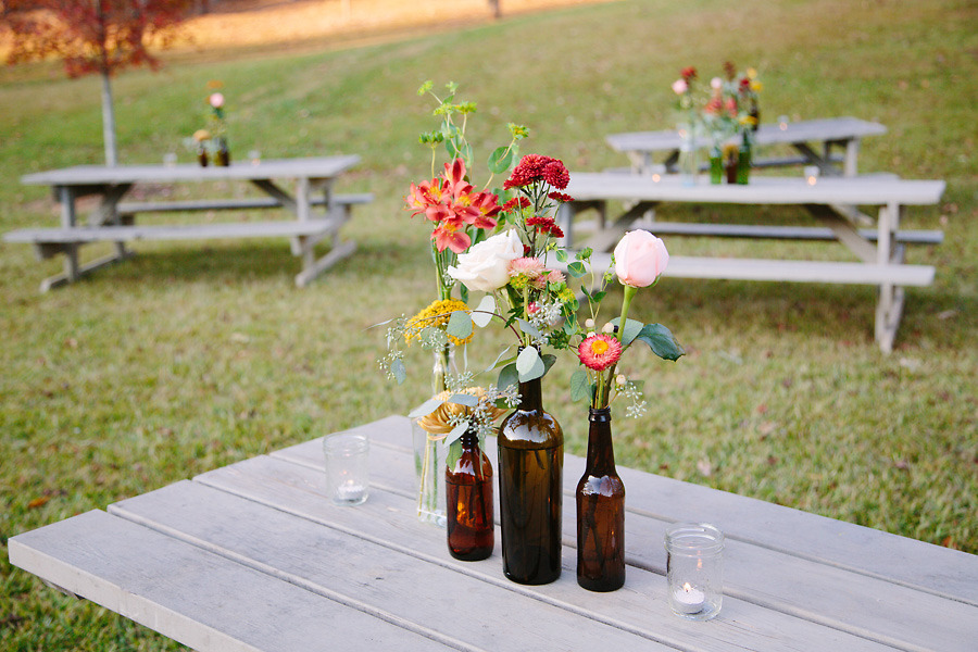 wine bottle decorations for wedding empty glass bottles fill in as gorgeous wedding centerpieces 1429