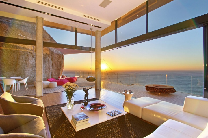 Villa built into the mountain with full ocean views from - House with a view ...