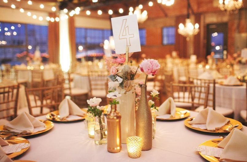 Empty Glass Bottles Fill In As Gorgeous Wedding Centerpieces Inspiration Decorated Bottles For Weddings