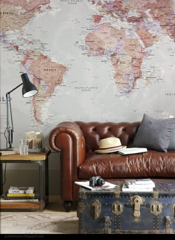 4. Decorate with old maps