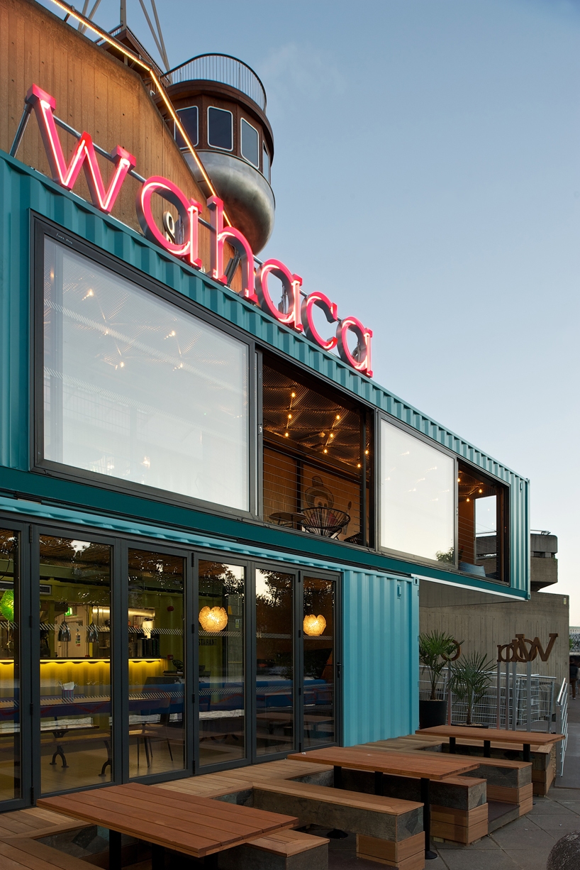 The New Wahaca Pop Up Project A Shipping Container