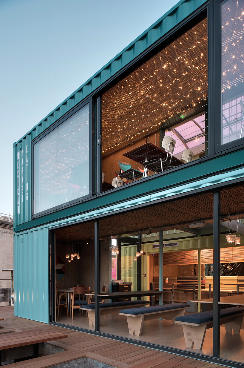 The New Wahaca Pop Up Project A Shipping Container Restaurant In London
