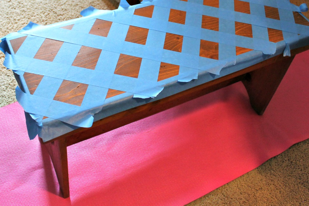 Exceptional Painted Benches Ideas Part - 5: Wood Bench Pattern