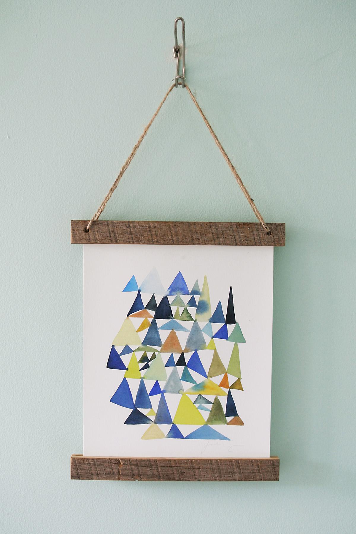 DIY Wooden Slat Hanging Frame
