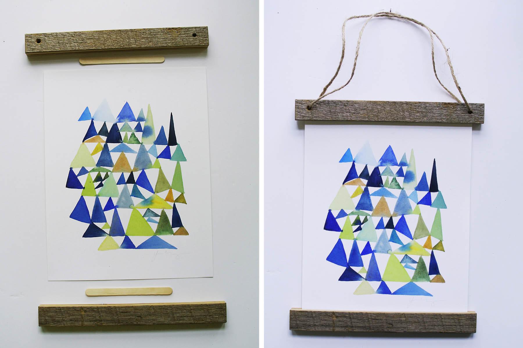 wooden slat hanging frame instructions