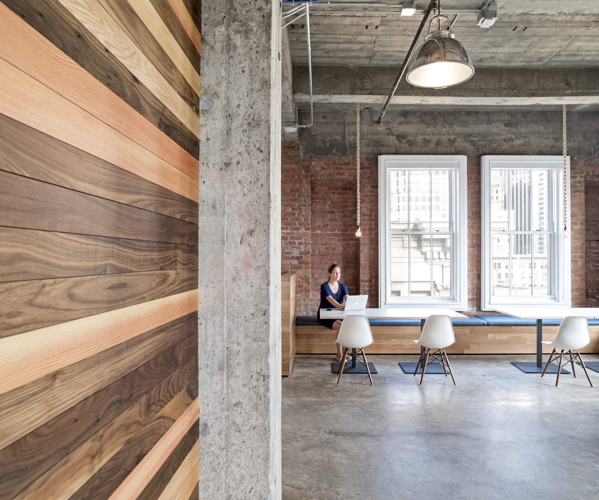 Exposed Brick Walls Amp Concrete Define The New Yelp