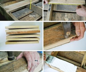 DIY Pallet Craft Paper Storage Shelving