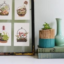 DIY Wooden Plant Pot – Tree Trunk Style