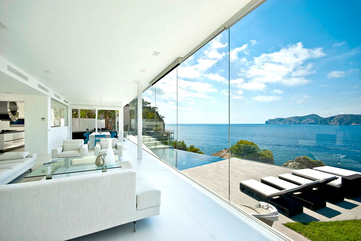 Living Room View bright and modern mallorcan retreat lets the scenery complete it