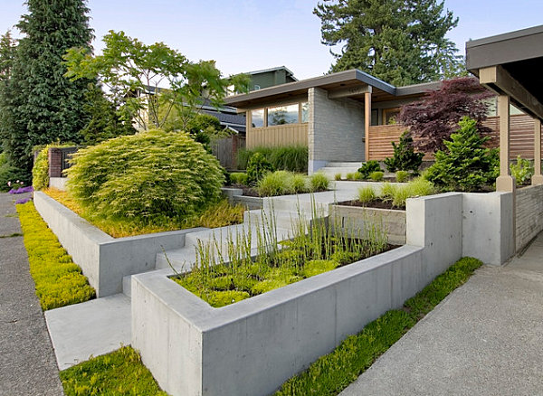 view in gallery - Modern Front Yard Garden Ideas