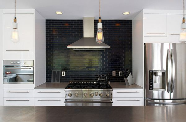 Black Slate Backsplash : Kitchen subway tiles are back in style inspiring designs