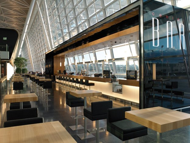 10 spectacular airport lounges around the globe impress with their unique designs - Moderne loungebar ...