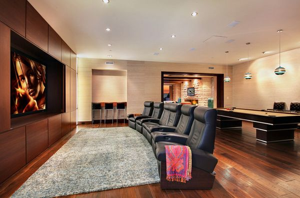 Game Room And Theater In One Space.