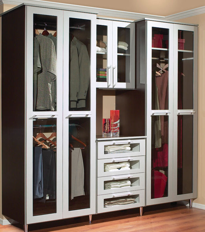 Opt For Clear Glass Panels On Closet Doors.