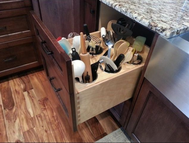 Kitchen Utensil Organizer Drawer 65 ingenious kitchen organization tips and storage ideas view in gallery workwithnaturefo