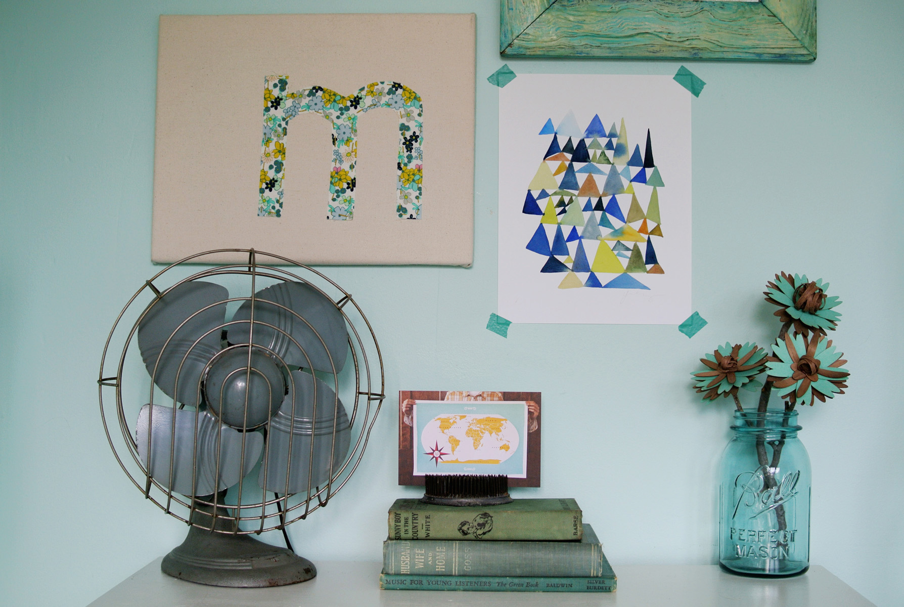 DIY Embroidered Monogram Wall Art