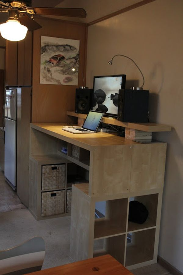 10 ikea standing desk hacks with ergonomic appeal - Medidas estanteria expedit ...