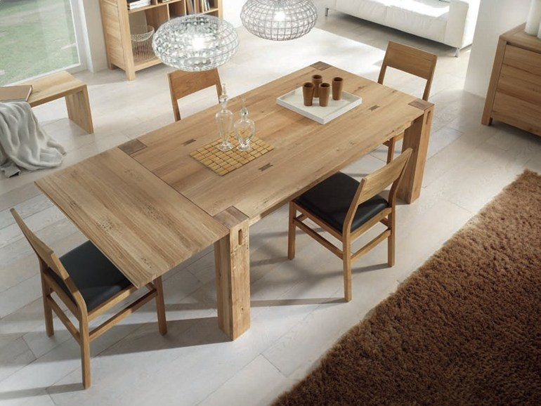 Expandable dining tables the secret to making guests - Table carree 8 personnes avec rallonge ...
