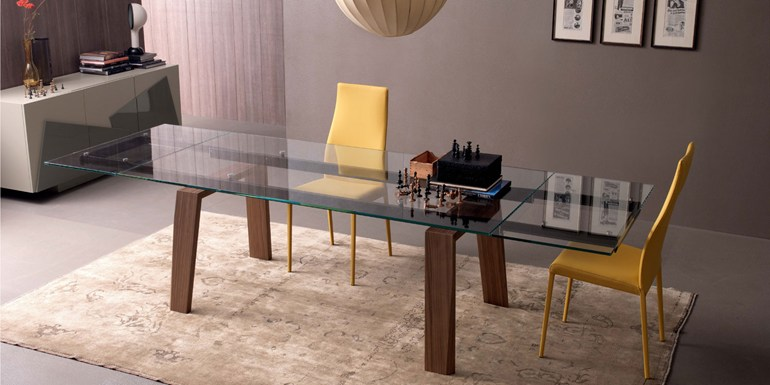 View In Gallery. Frau Is A Rectangular Dining Table With A Glass ...
