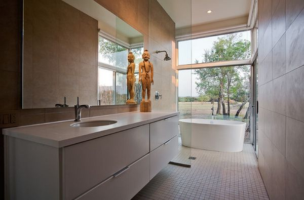 Freestanding Tub And Shower Combo.  View in gallery How You Can Make The Tub Shower Combo Work For Your Bathroom