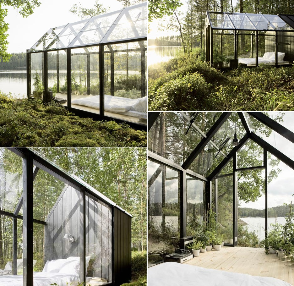 25 cool bedroom designs to dream about at night for Garden glass house designs