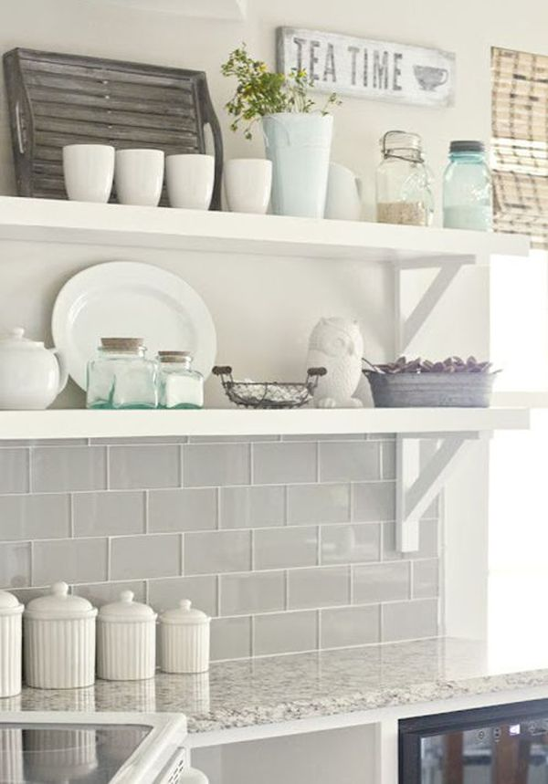 View In Gallery The Subway Tile Backsplash Looks Great Combined With Rustic Island