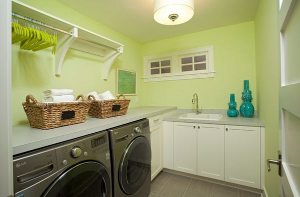 Laundry Room Shelves Keep Everything Organized And Within
