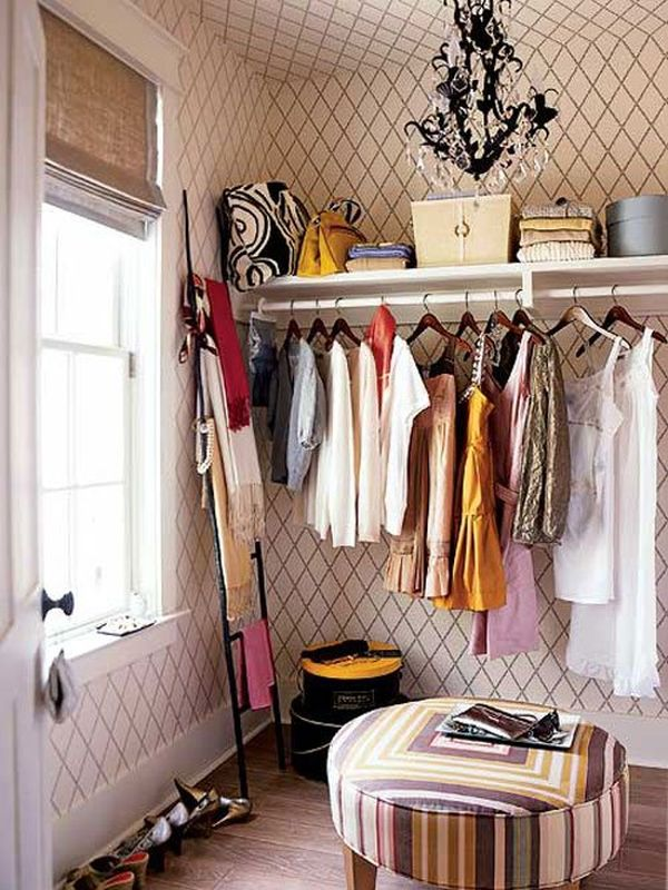 Learn to love your closet big or small hang a chandelier aloadofball Image collections