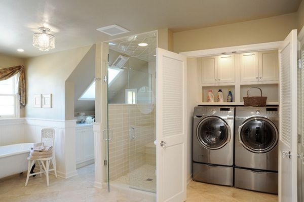Laundry Room Shelves Keep Everything Organized And Within Reach