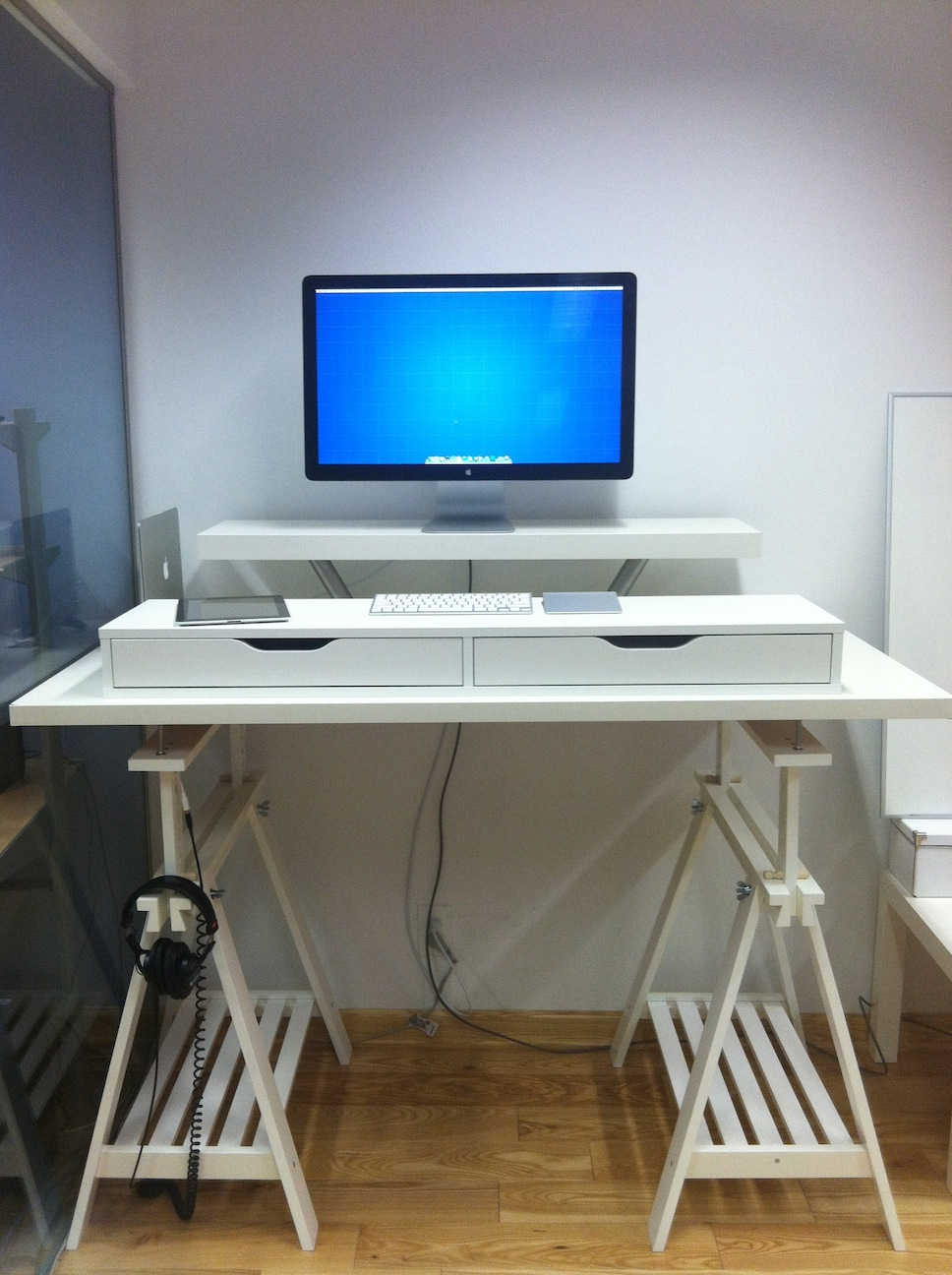 contemporary glass stylish ikea desk all small office to pertaining